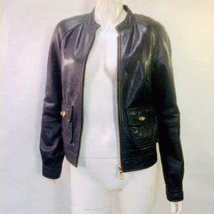 Mulberry Leather biker Cafe Racer Moto jacket